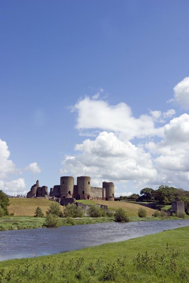 rhuddlan slott royaltyfri bild