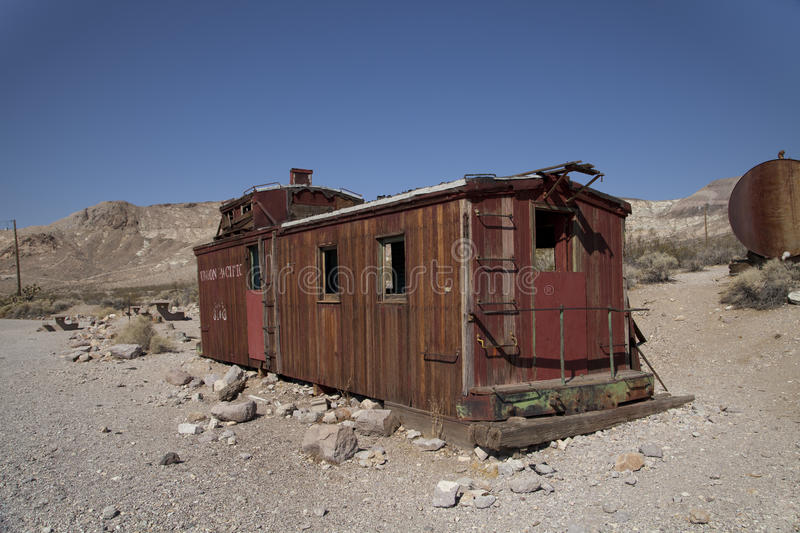 Rhyolite Caboose. An abandoned Caboose in Rhyolite ghost town, Nevada royalty free stock photography