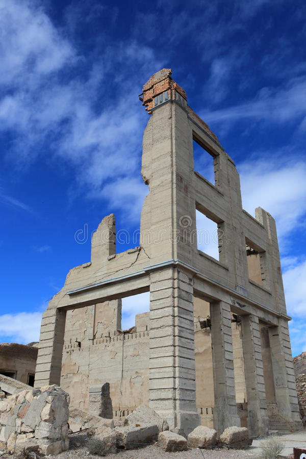 Rhyolite ghost town. Death valley national park, USA royalty free stock photo
