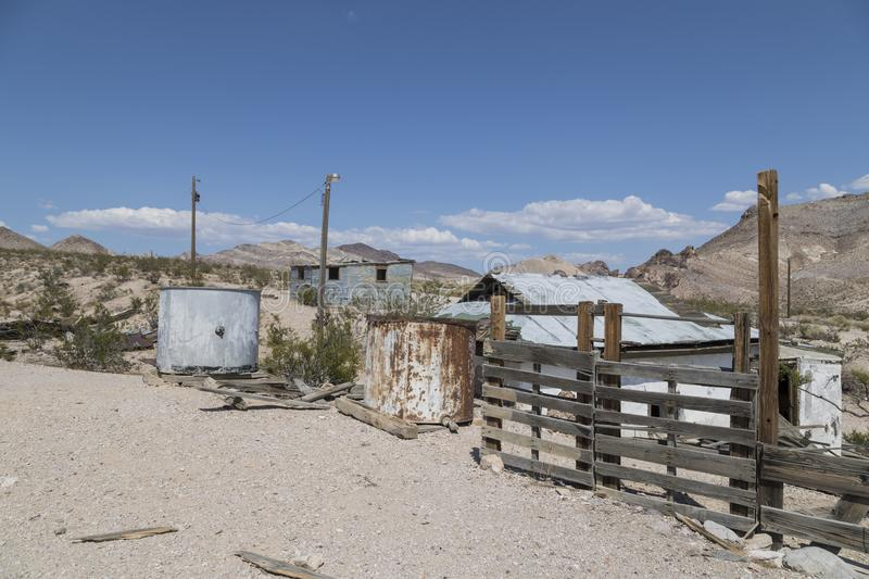 Rhyolite Ghost Town. An abandoned buildings at the ghost town of Rhyolite in Nevada royalty free stock photos