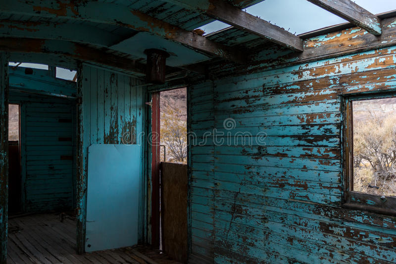 Rhyolite Ghost Town. In Nevada stock photo