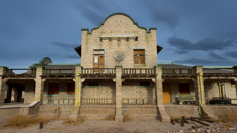 Rhyolite Ghost Town. In Nevada royalty free stock image