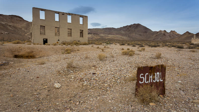Rhyolite Ghost Town. In Nevada royalty free stock photo