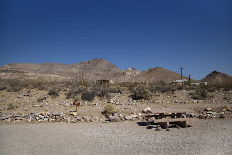 Rhyolite Ghost Town. A view of Rhyolite ghost town in Nevada royalty free stock photo