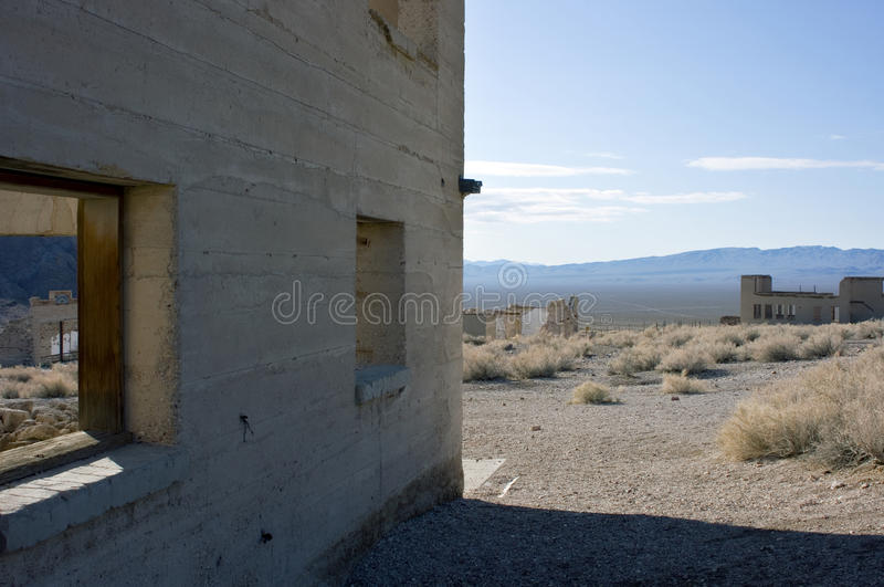 Rhyolite, Nevada ghost town. Remains of the once bustling town of Rhyolite, Nevada stock photography