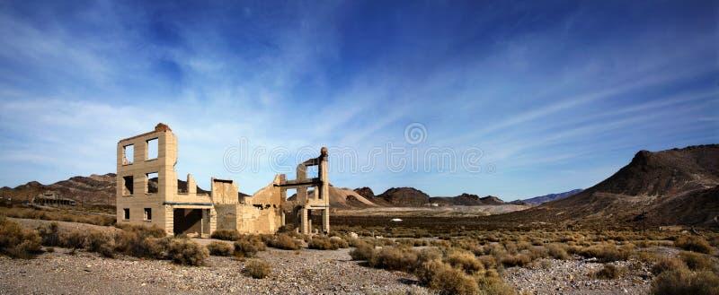 Rhyolte Nevada, une ville abandonnée photos stock