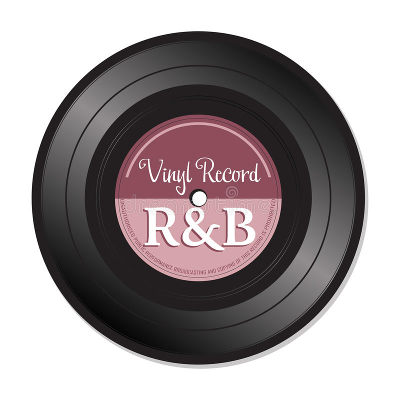 Rhythm and blues vinyl record royalty free stock photo