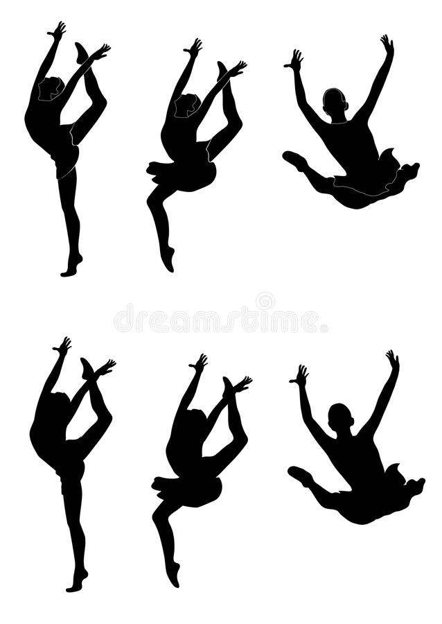 Rhythmic gymnast royalty free stock photos