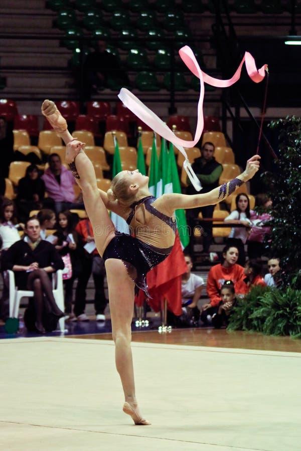 Rhythmic gymnastic royalty free stock image