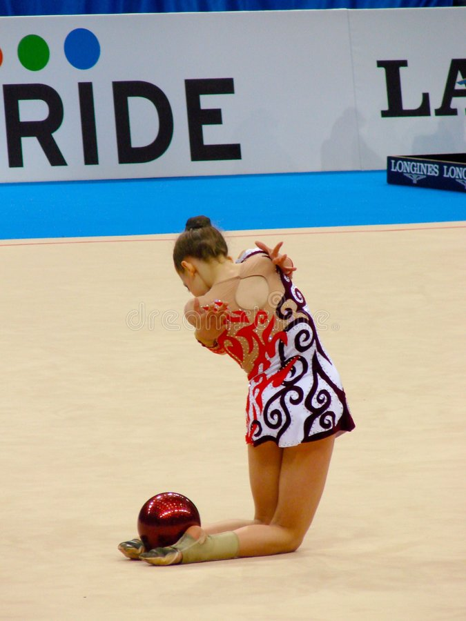 Rhythmic Gymnastic stock image