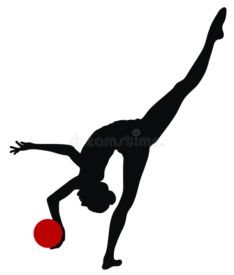 Rhythmic gymnastic. Abstract vecror illustration of rhythmic gymnastic vector illustration