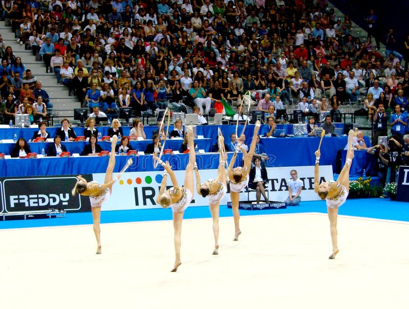 Download Rhythmic Gymnastic: Italy editorial stock photo. Image of final - 5427878