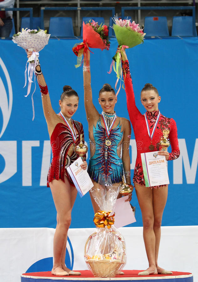 Rhythmic Gymnastics Grand Prix Cup stock images