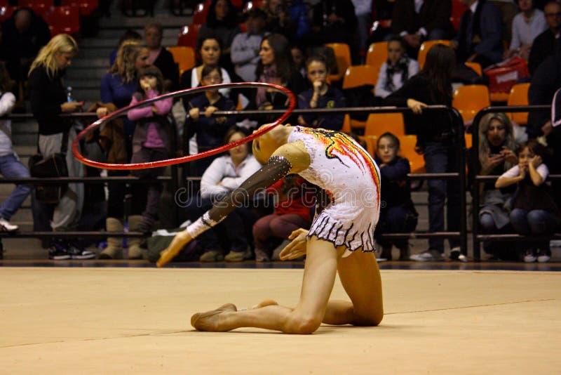 Rhythmic gymnastics Italian Championships royalty free stock photo