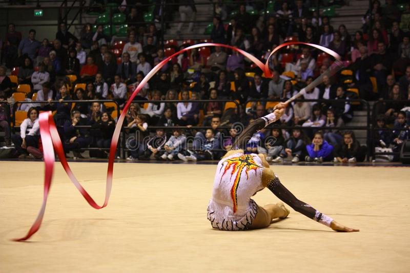 Rhythmic gymnastics Italian Championships stock photos