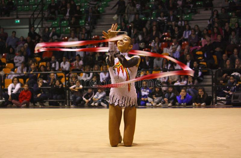 Rhythmic gymnastics Italian Championships royalty free stock photography