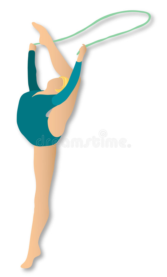 Download Rhythmic Gymnastics: Rope stock illustration. Image of blond - 371152