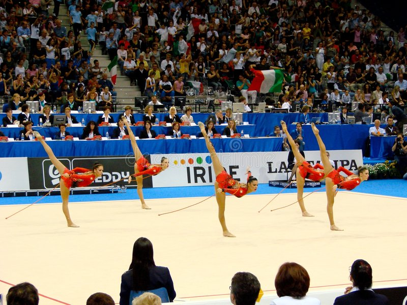 rhythmique gymnastique photo stock
