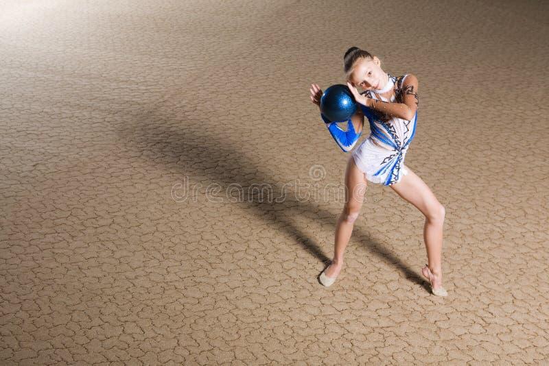 Rhythmische Gymnastik lizenzfreies stockbild