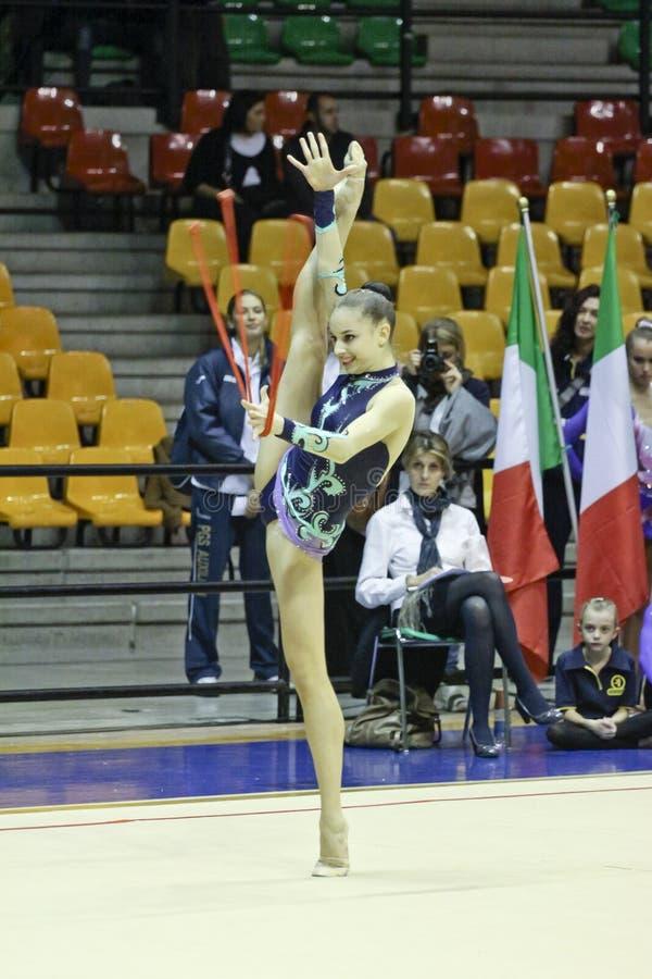 Rhythmische Gymnastik Italiener stockfoto