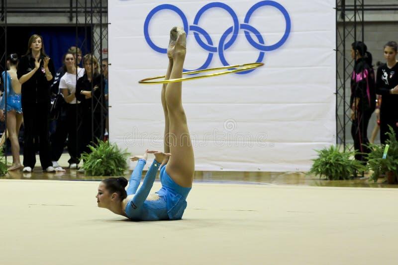 Rhythmische Gymnastik Italiener stockfotos