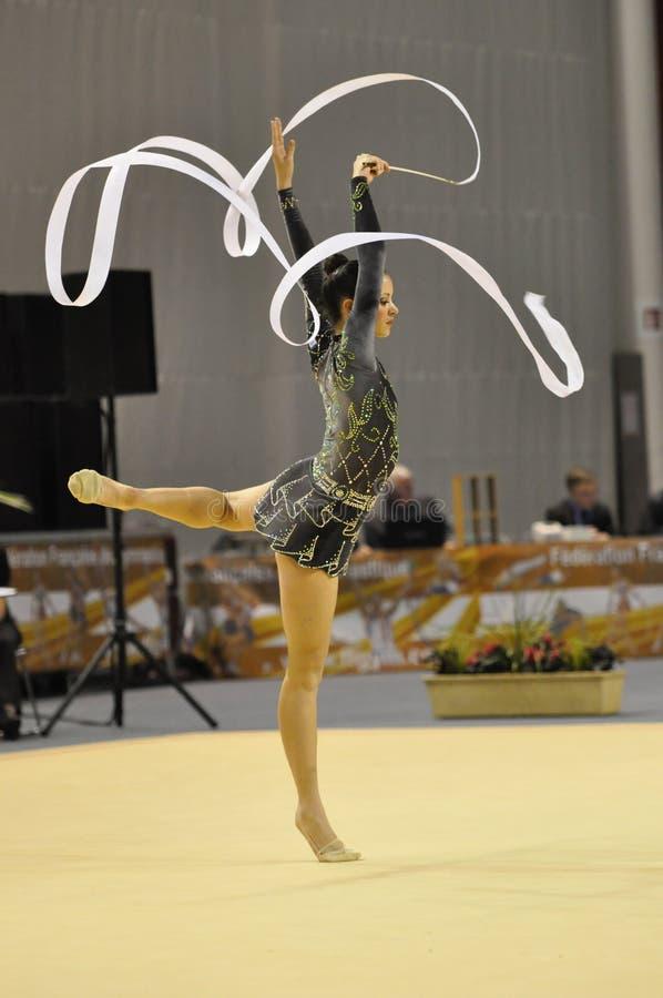 Rhythmisches gymnastisches stockfoto