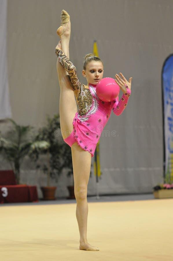 Rhythmisches gymnastisches, Jasmin Kerber USA lizenzfreie stockfotos