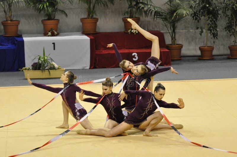 Rhythmisches gymnastisches kanadisches Team lizenzfreie stockfotografie