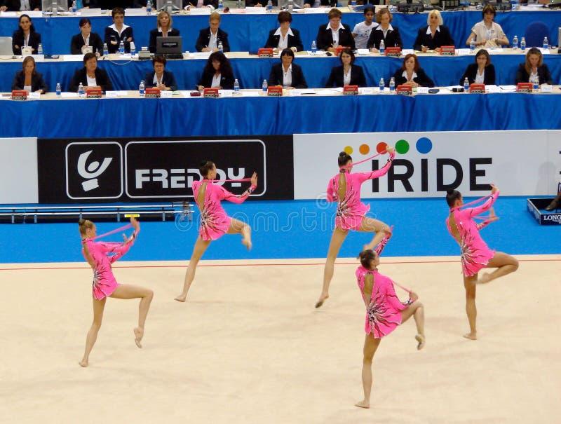 Rhythmisches gymnastisches: Russland lizenzfreies stockbild