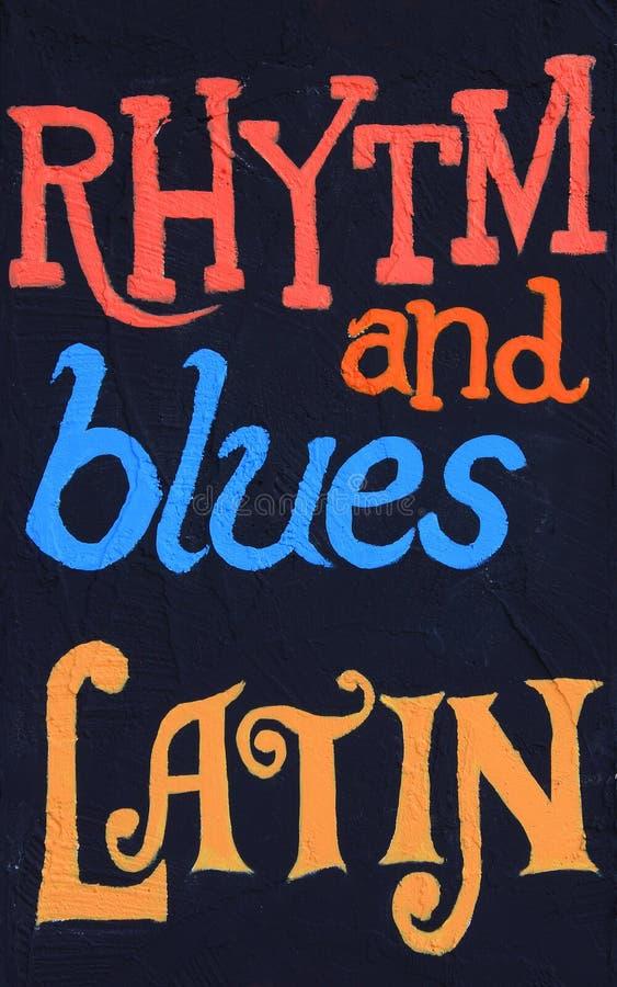 Rhytm e azuis, latim foto de stock
