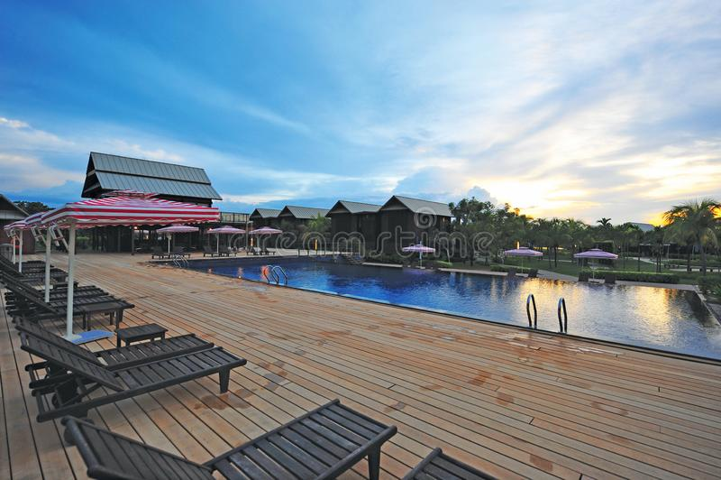 Ri-Yaz Heritage Marina Resort & Spa. Offers a unique five-star boutique paradise located in Pulau Duyong, Kuala Terengganu, Terengganu, Malaysia stock image