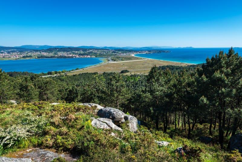 Ria de Pontevedra in Galicia, Spain royalty free stock photos