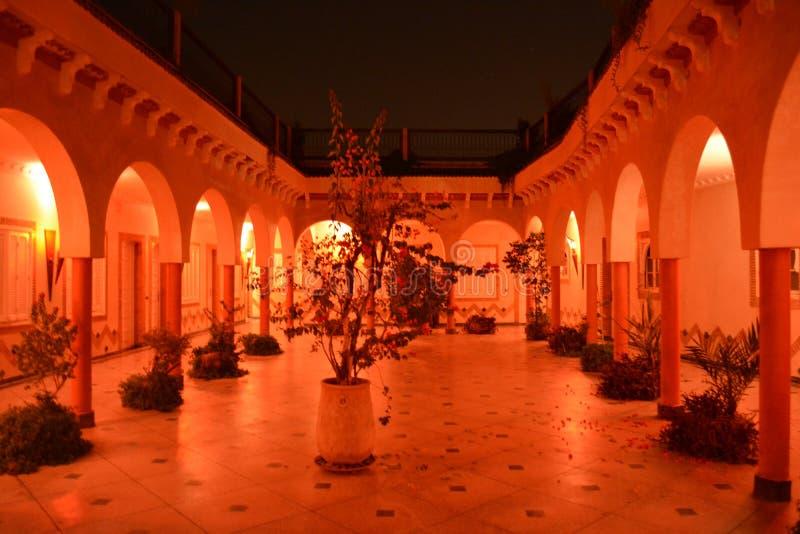 Riad在马拉喀什,摩洛哥 库存照片