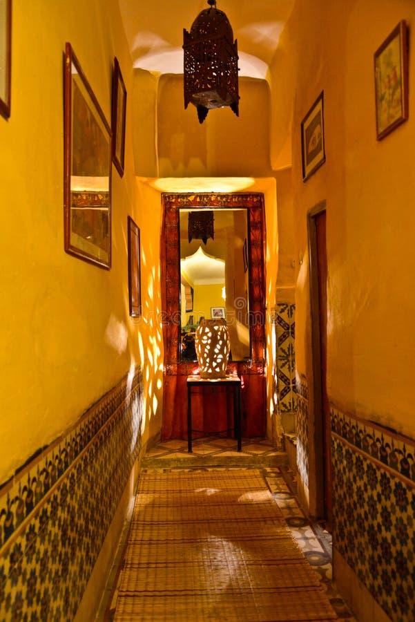 Riad στο Μαρακές, Μαρόκο στοκ εικόνα