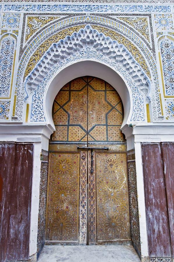 Riad bei Meknes, Marokko stockbild