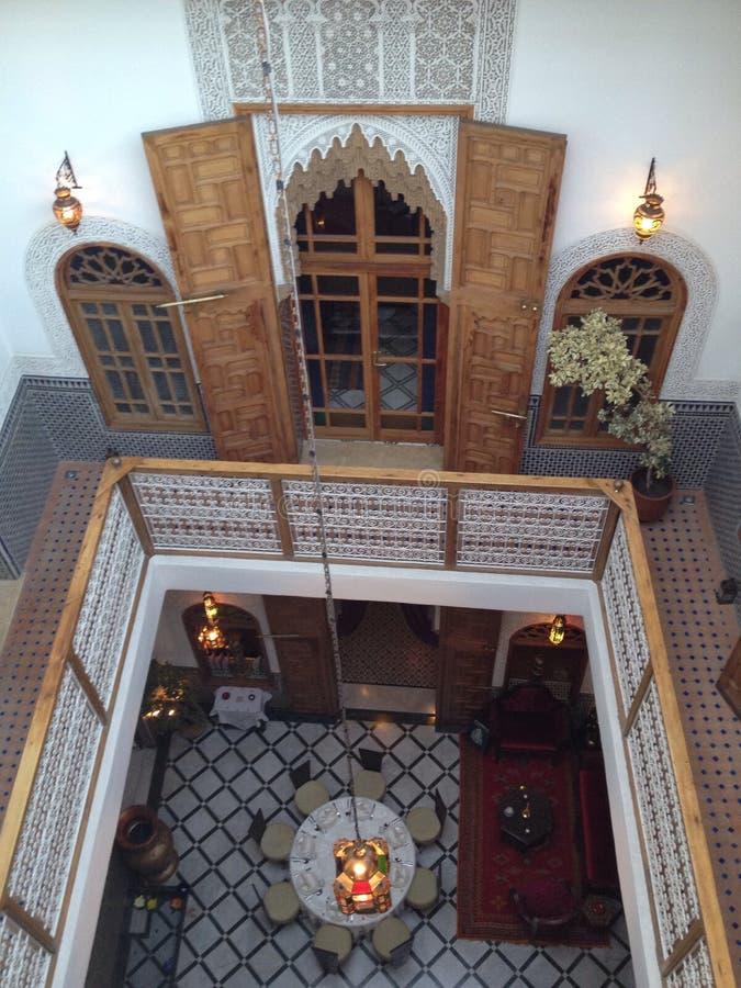 Riad de Fes imágenes de archivo libres de regalías