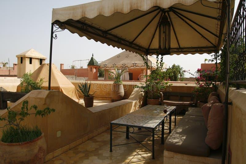 Riad in Marrakech stock afbeeldingen