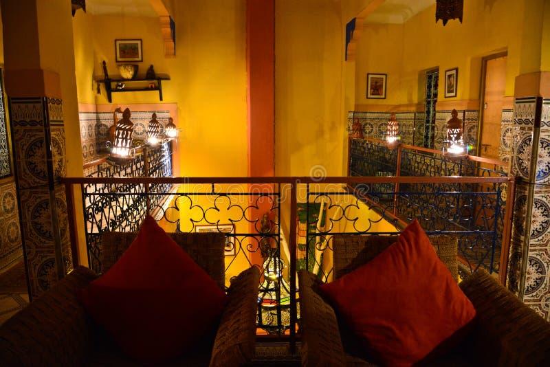 Riad in Marrakech, Marokko royalty-vrije stock afbeeldingen