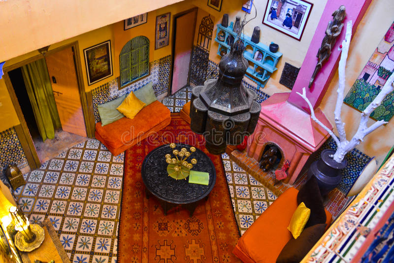 Riad in Marrakesh, Morocco royalty free stock photography
