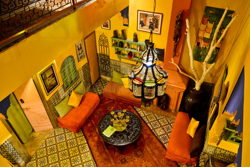 Riad in Marrakesh, Morocco royalty free stock image