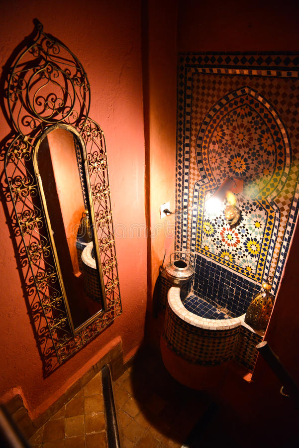 Riad w Marrakesh, Maroko zdjęcia stock