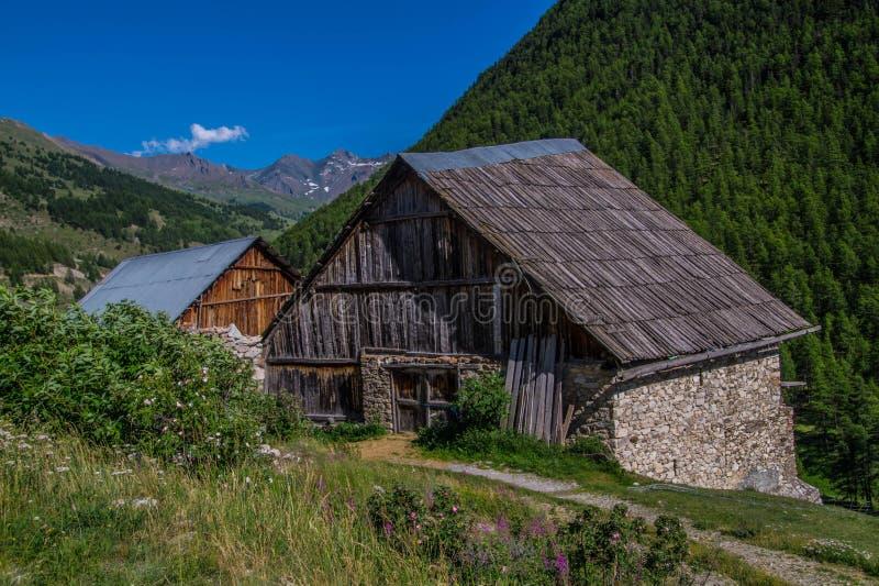 Riaille ceillac queyras in Hautes-Alpes in Frankrijk royalty-vrije stock foto