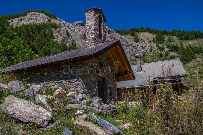 Riaille ceillac queyras in Hautes-Alpes in Frankrijk stock afbeelding