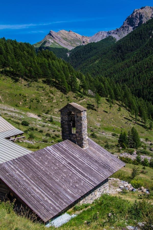 Riaille ceillac queyras in Hautes-Alpes in Frankrijk royalty-vrije stock foto's