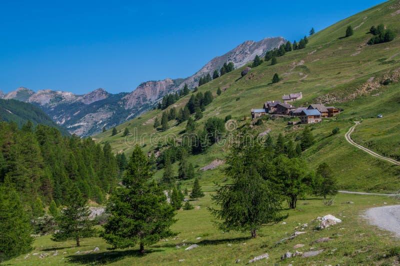 Riaille ceillac queyras in Hautes-Alpes in Frankrijk royalty-vrije stock afbeeldingen