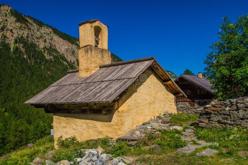 Riaille ceillac quyras in Hautes-Alpes in Frankrijk royalty-vrije stock foto