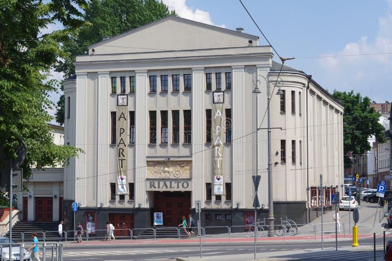 Rialto电影院在卡托维兹 免版税库存图片