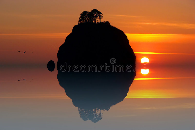 Rialto Beach special effect royalty free stock photo