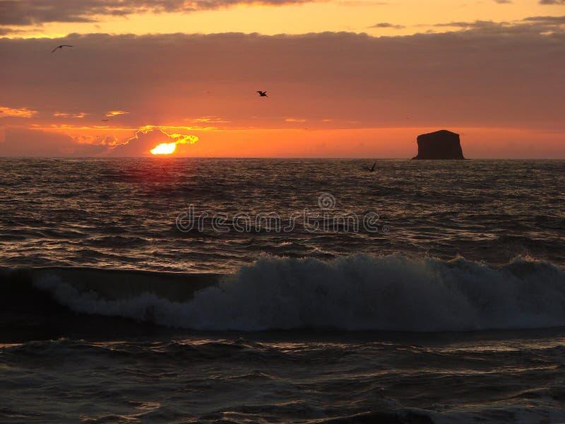 Rialto Beach sunset, WA, USA royalty free stock photography