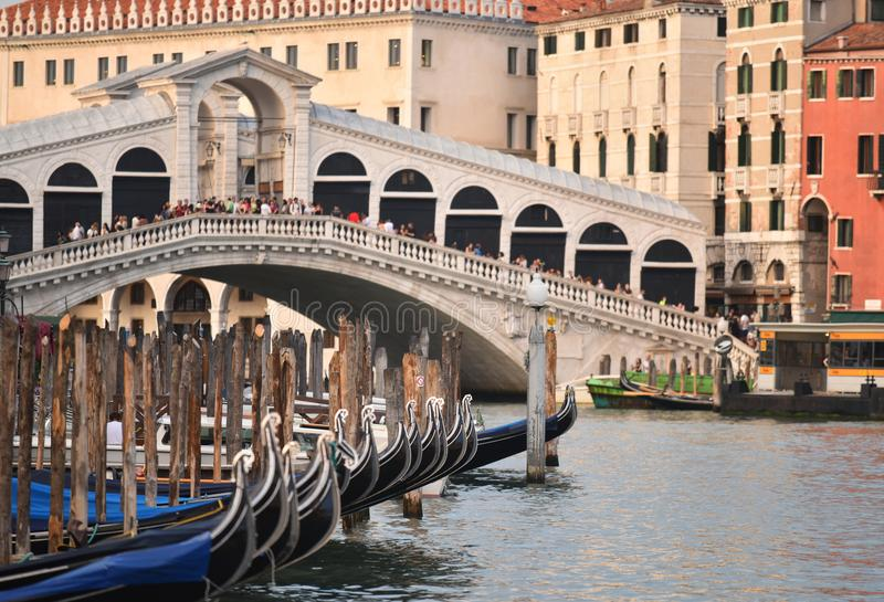 Rialto-Brücke, Venedig, Italien lizenzfreie stockfotos